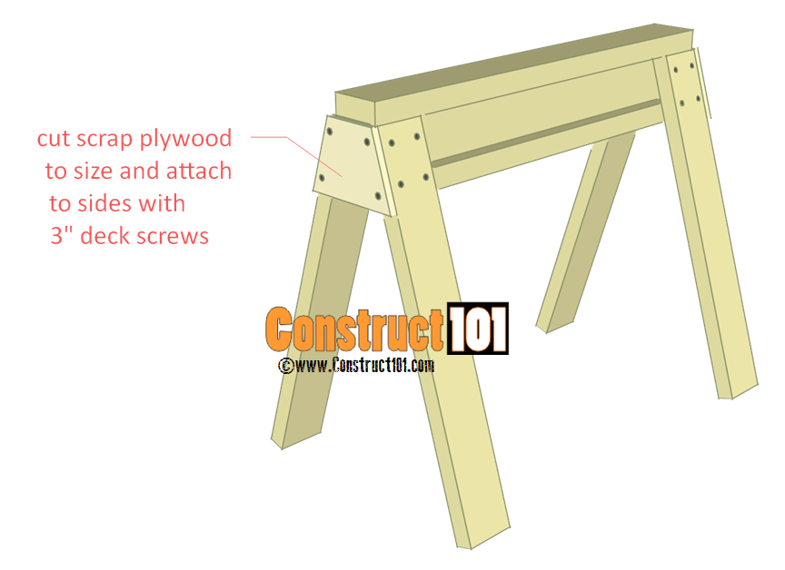 sawhorse plans step 3