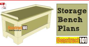 storage bench plans