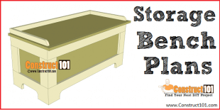 Storage bench plans - free PDF download - DIY projects - Construct101