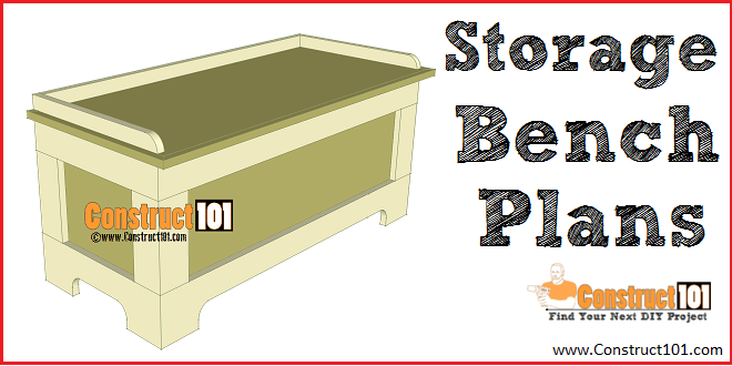 Storage Bench Plans Free Pdf Download Construct101