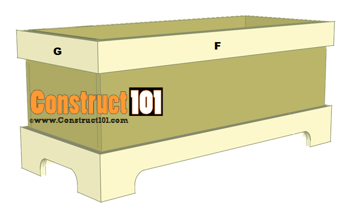 storage bench plans step 3