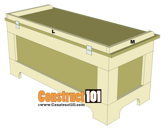 storage bench plans step 7
