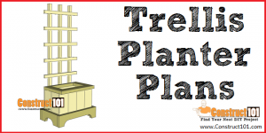 Trellis planter plans - free PDF download - DIY projects at Construct101