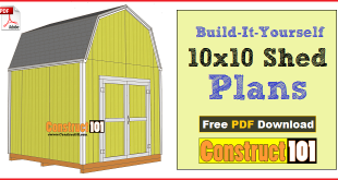 10x10 shed plans gambrel shed
