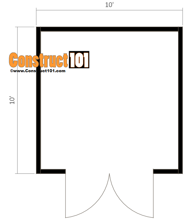 10x10 shed plans gambrel shed floor view