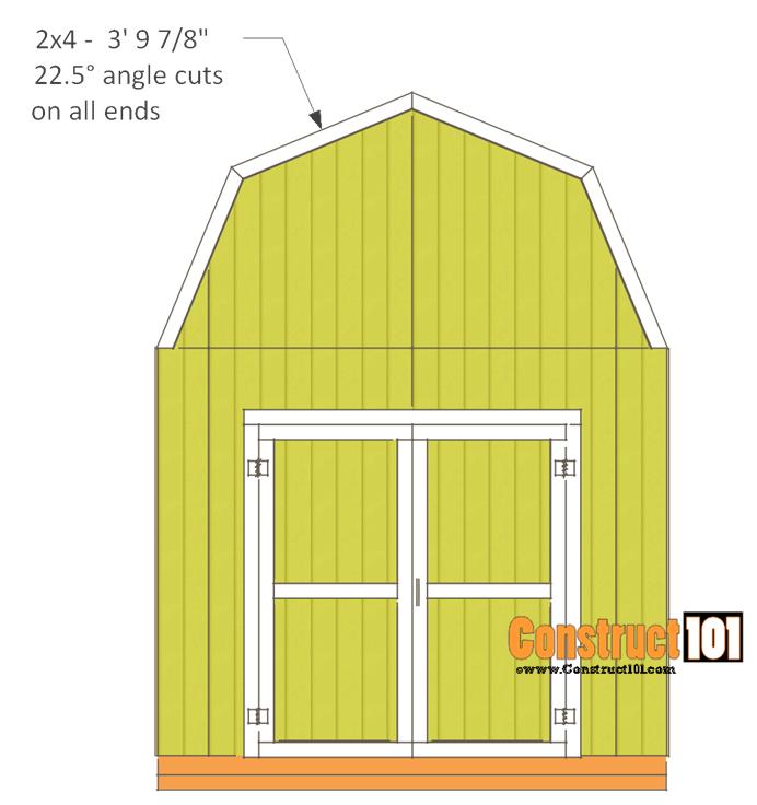 10x10 shed plans - gambrel shed - siding - trim