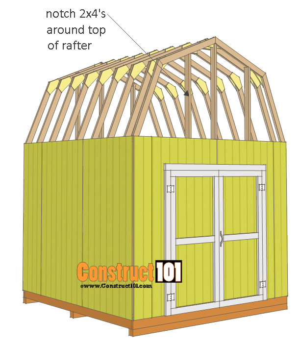 10x10 shed plans gambrel shed - notch studs