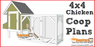 4x4 chicken coop plans - free PDF download - DIY projects at Construct101