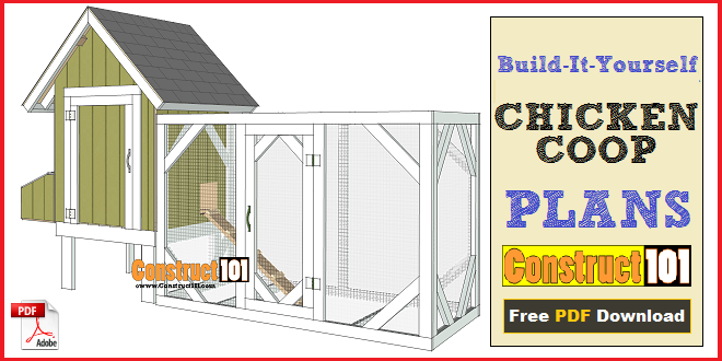 chicken coop plans - design #2 - pdf download - construct101