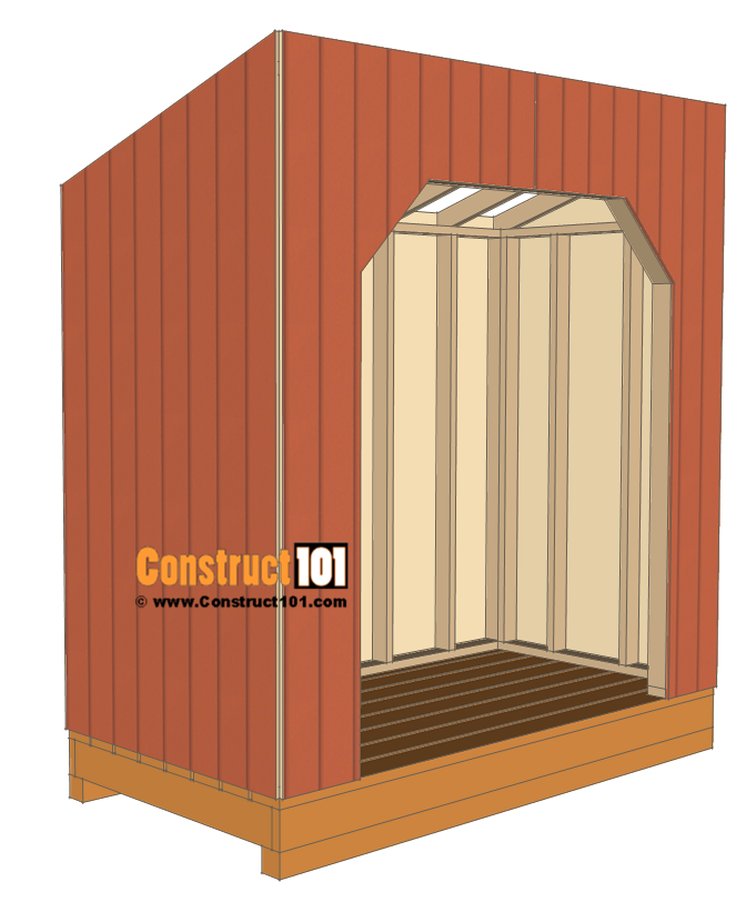 Firewood shed plans - 4x8 - install siding.