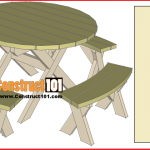 Round picnic table plans, includes free PDF download, material list, and step-by-step instructions.