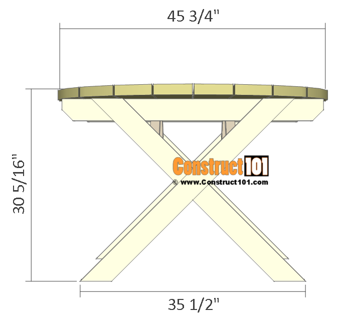 round picnic table plans - view