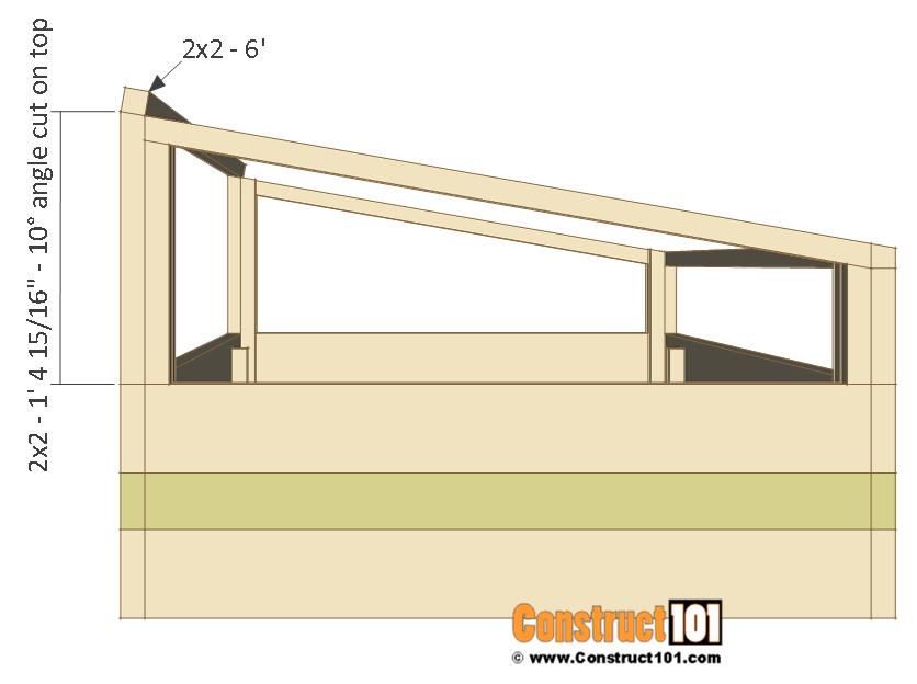 Cold frame plans, back frame, step 7.