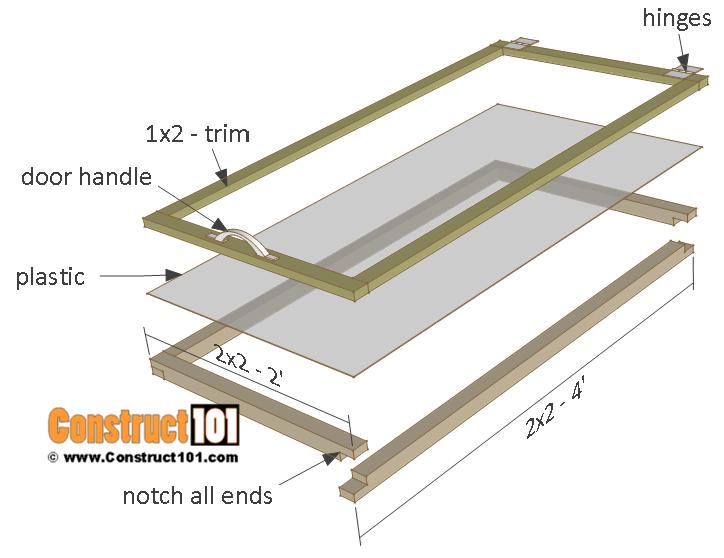 Cold frame plans, doors, step 10.