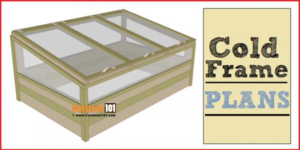 Cold frame plans, free PDF download.