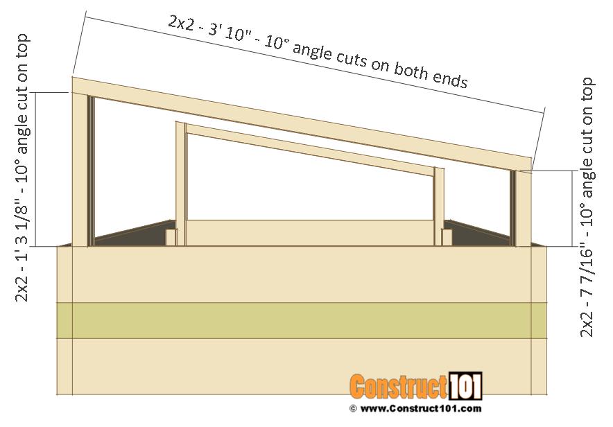 Cold frame plans, side frame, step 5.