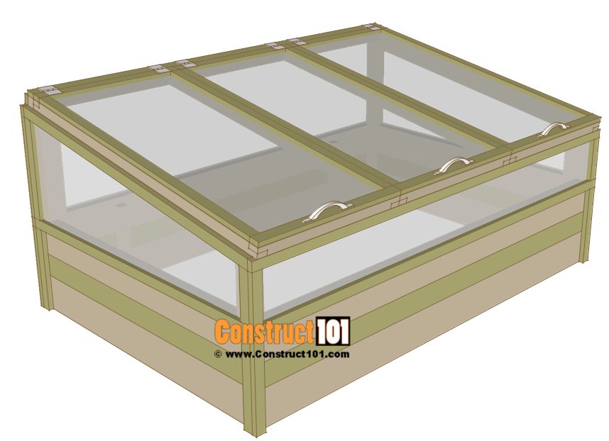 Cold frame plans, free step-by-step plans.