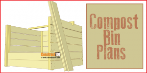 Compost bin plans, free PDF download.
