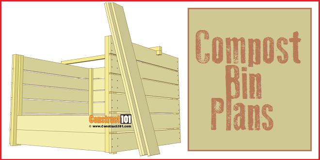 Compost bin plans, free PDF download.