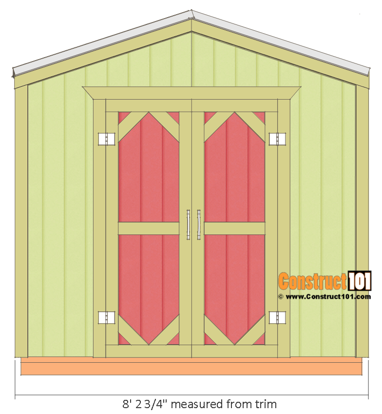 garden shed plans u2013 88 u2013 overview