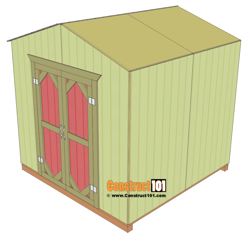 Garden Shed Plans 8x8 Step By Step Construct101