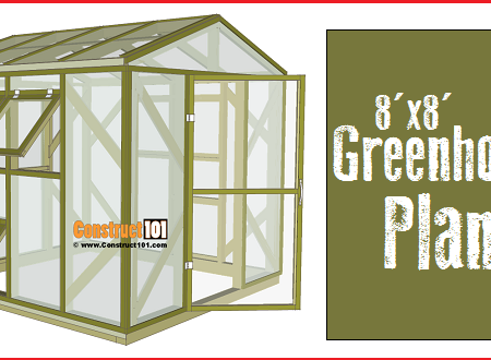 Greenhouse plans, 8'x8', free PDF download.