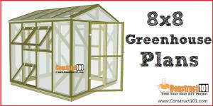 Greenhouse plans, 8'x8', free PDF download.