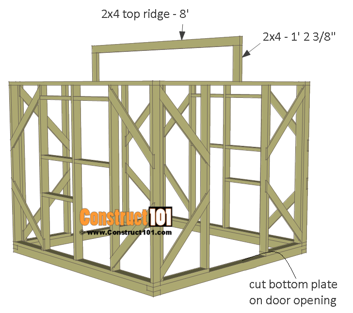Greenhouse plans, 8'x8', top ridge board.