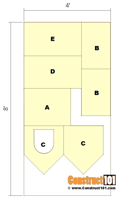 Dog house plans, 4'x8' exterior siding sheet.