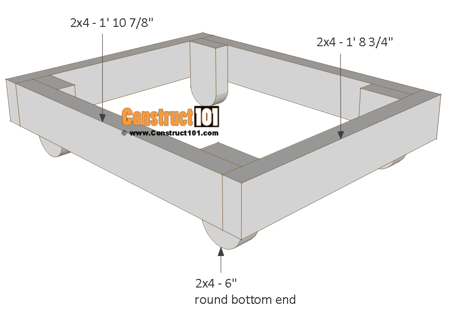 Dog house plans, floor frame.