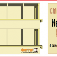 Chicken Coop Nest Box Plans - 4 compartments / stackable, free PDF download.