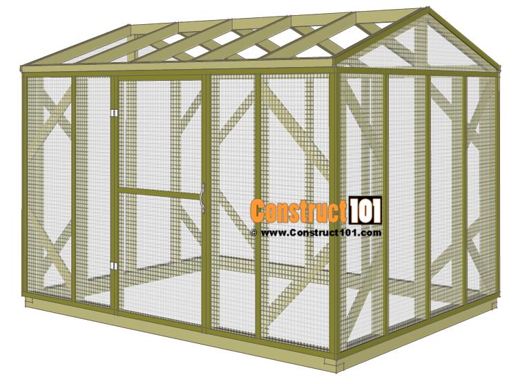 Chicken coop run plans - 10x8 - door installed.