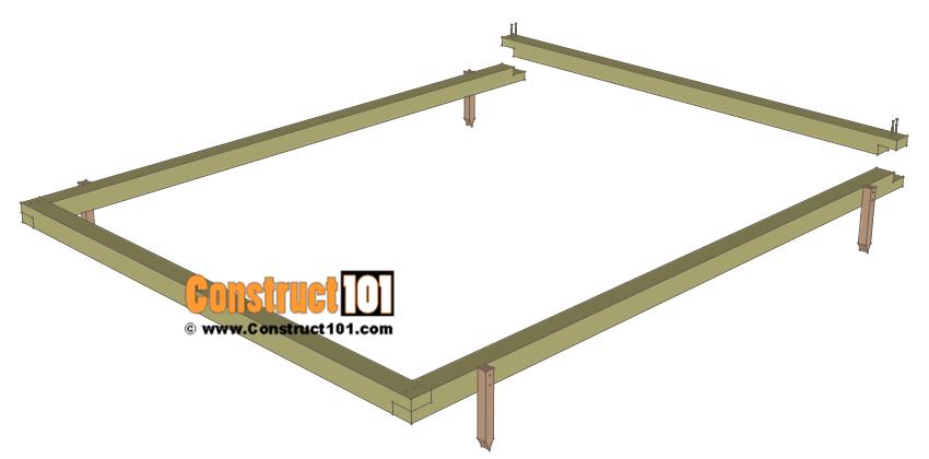 Chicken coop run plans - 10x8 - building the floor frame.