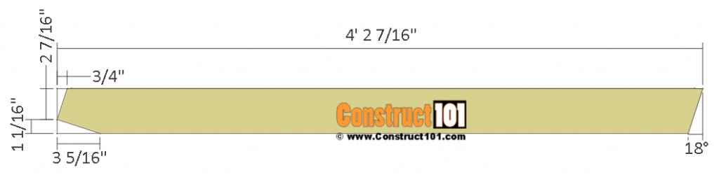 Chicken coop run plans - 10x8 - cutting rafter details.