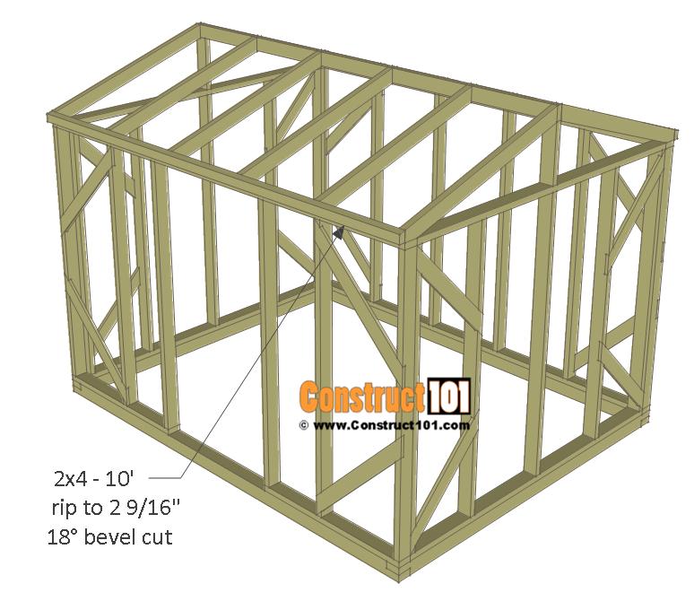 Chicken coop run plans - 10x8 - roof trim.