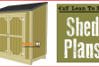 Lean to shed plans, free PDF download.