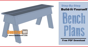 Simple DIY bench plans, free PDF download.