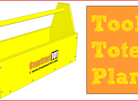 Tool tote plans, free PDF download.