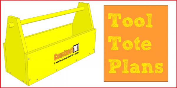 Tool tote plans, free PDF download.