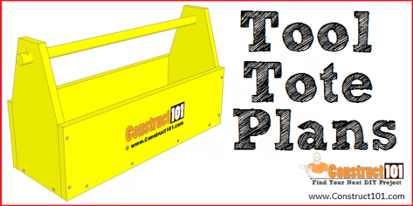 Tool tote plans, free PDF download. - Construct101