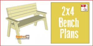 2x4 bench plans, free PDF download, step-by-step details, and material list.