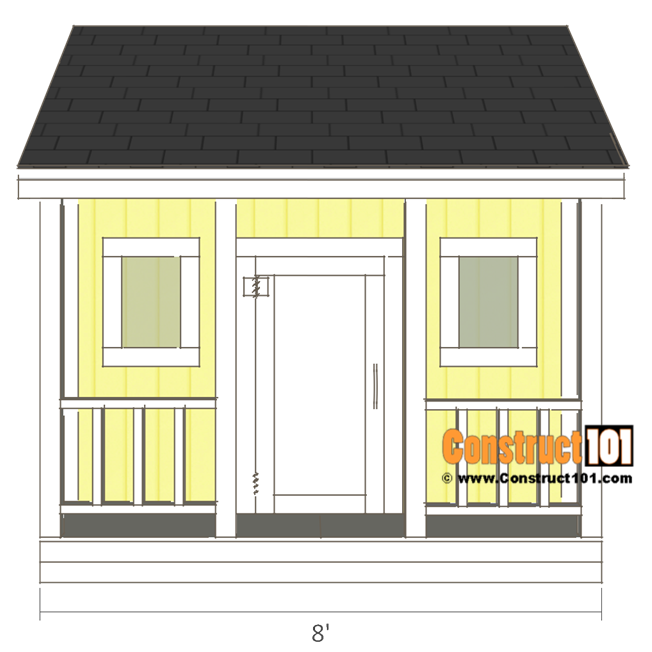 Playhouse plans - front view.