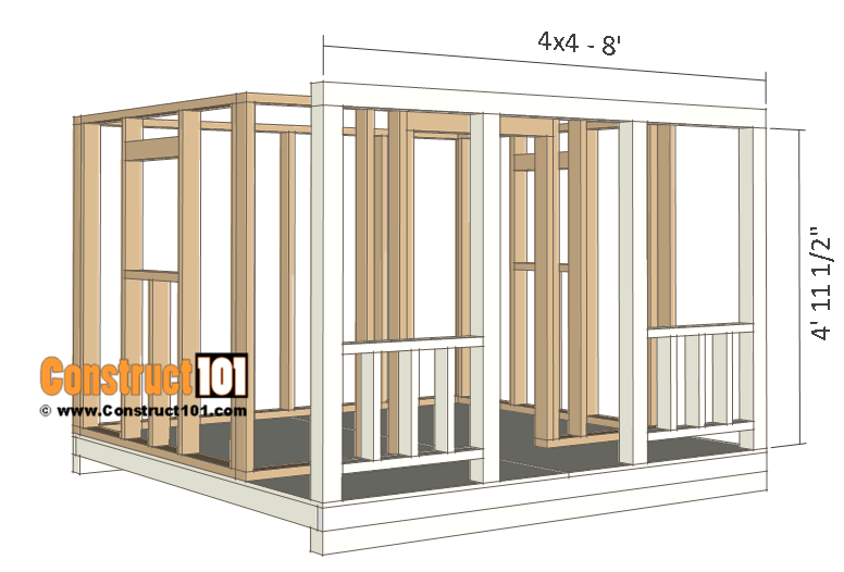 playhouse plans porch frame