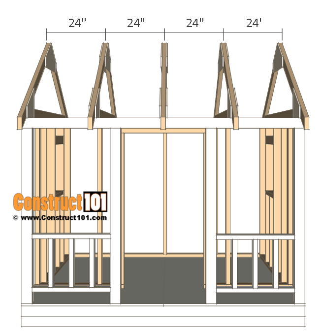 "Playhouse plans - truss 24"" O.C."
