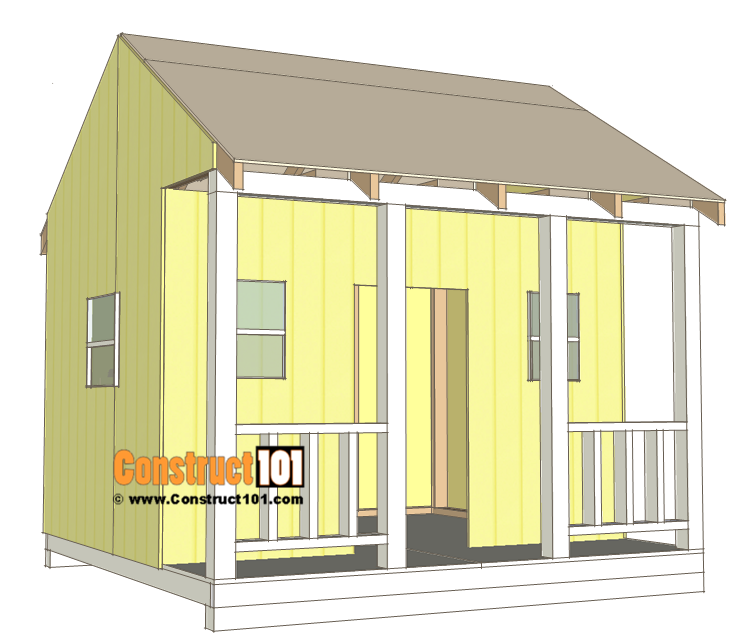 Playhouse plans - roof deck.