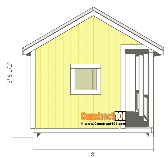 Playhouse plans - side view.