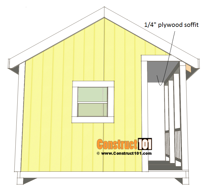 Playhouse plans, soffit details.