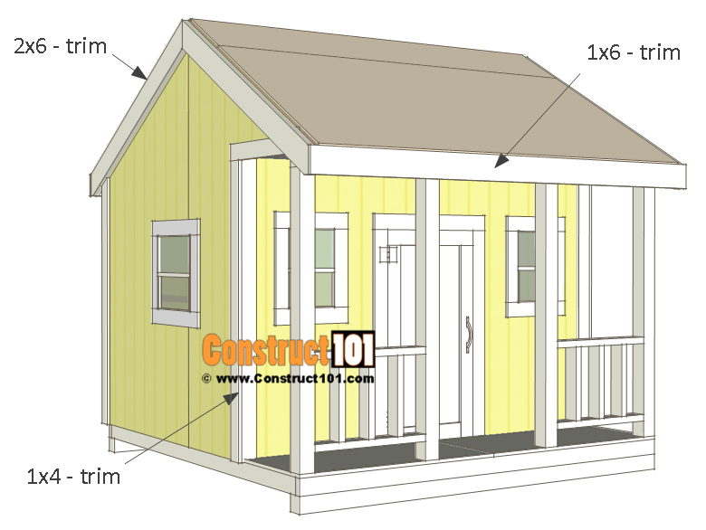 Lovely Playhouse Plans   Trim.