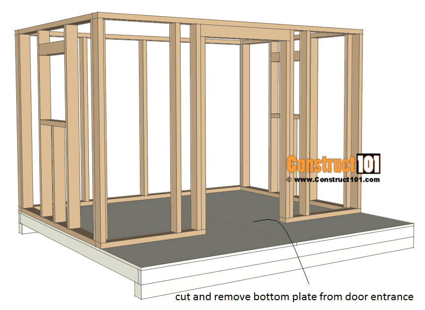 Playhouse plans - raise wall frame.