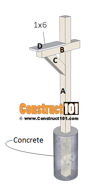 Mailbox post plans Timber Frame Mailbox Post Plans Step 4 Construct101 Mailbox Post Plans Diy Stepbystep Plans Construct101